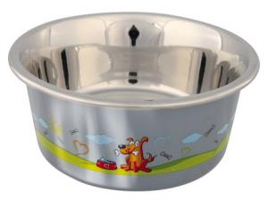 Stainless Steel Bowl  with Plastic Coating  (Medium)