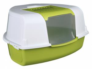Tadeo Open Top Corner Litter Tray, with Dome