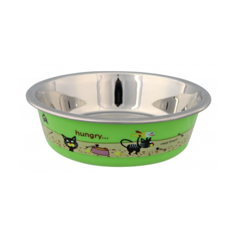 Stainless Steel Bowl with Plastic Coating