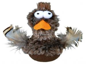 TRIXE Bobo Duck with Feathers and Sound, Plush
