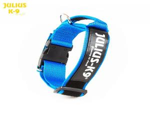 JULIUS K-9 collar with handle - BLUE