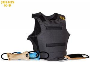 JULIUS K-9 Hard protector vest with Velcro tug